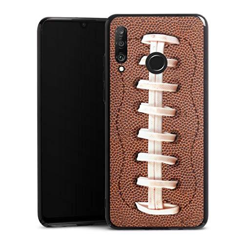 DeinDesign Hard Case kompatibel mit Huawei P30 Lite Schutzhülle schwarz Smartphone Backcover Fußballer Ball American Football