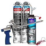 Pack Pistola Espuma Caliber 30 + 2 Botes Espuma Adhesiva EasyPega 750ml +...
