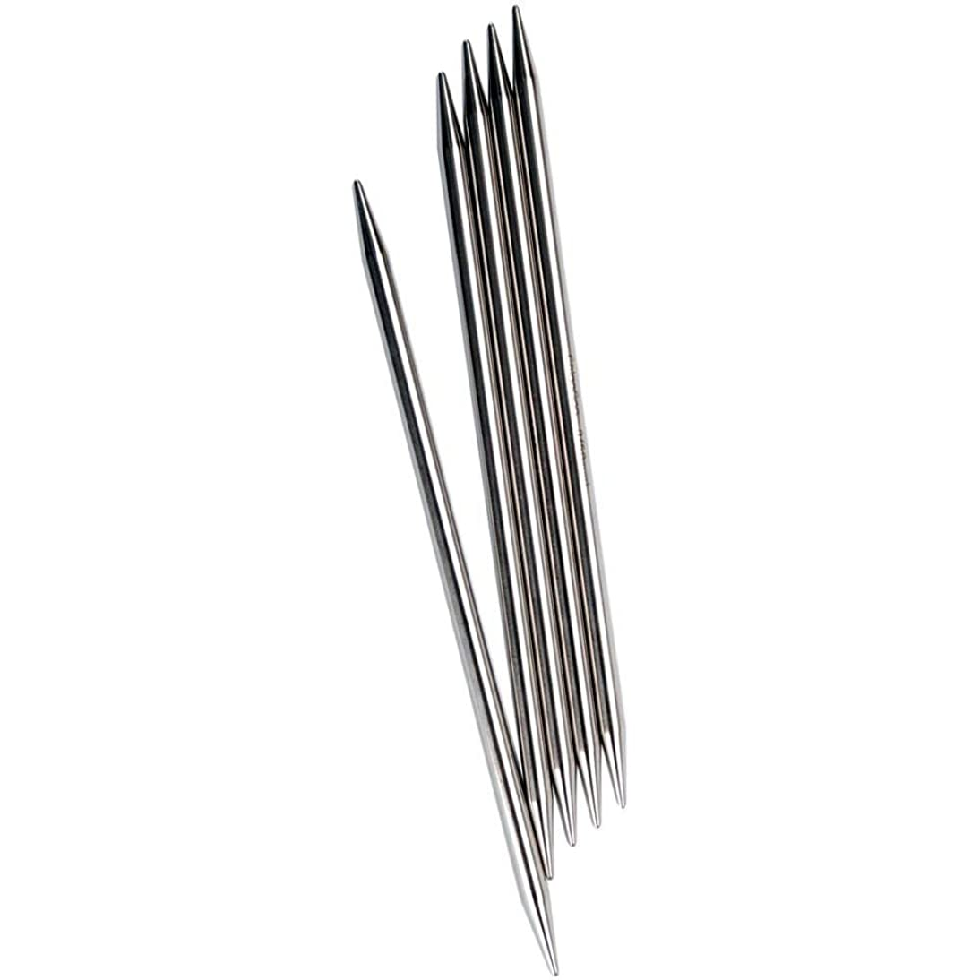 ChiaoGoo Red Double Point 6-inch (15cm) Stainless Steel Knitting Needle; Size US 5 (3.75mm) 6006-5