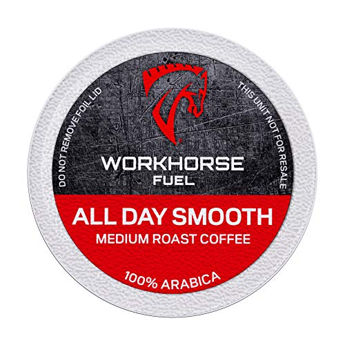 Workhorse Coffee All Day Smooth Medium Roast Single Serve K-Cup Coffee Pods, 72 Count (4 boxes of 18 pods)