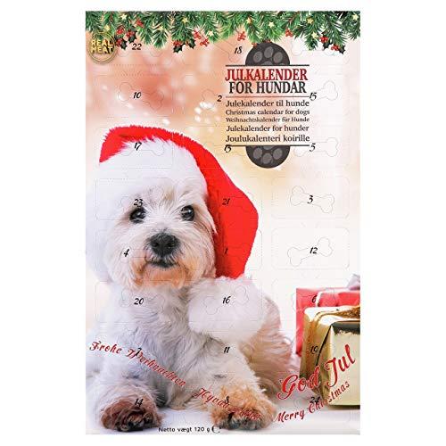 Faunakram Adventskalender für Hunde 2020, Leckerli getreidefrei, 120g Hundeleckerli und Hundesnacks