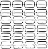 Fibbia Triglide,24 PCS 1' Rettangolo in Metallo Anello a Scorrevole Fibbia Regolabili Fibbie ad Ardiglione a Rullo per Borse da Cintura Zaino Borsa a Mano Borse Accessori da Cucito