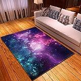 LGXINGLIyidian Alfombra Hermoso Cielo Estrellado del Universo Nebulosa Alfombra Suave Antideslizante De Decoración del Hogar De Impresión 3D T-3062E 180X200Cm