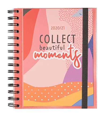 Grupo Erik - Agenda escolar 2020/2021 Semana vista Amelie Colección Tropical, 11 meses (15,5x19 cm) (ASV2009)