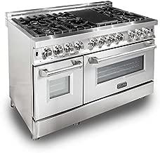 ZLINE 48 in. 6.0 cu. ft.7 Gas Burner/Electric Oven Range in Stainless Steel (RA48)