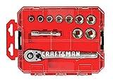 CRAFTSMAN Socket Set with Ratchet, SAE, 3/8-Inch Drive, 11-Piece (CMMT12026)