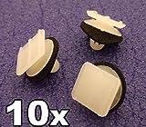 10x Plastik Klips Für Dreieckig Außenspiegel- Garnitur/Zierleisten (76222-SP1-003,...