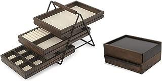 Umbra Black Walnut Jewlery Storage Set- 2 Item Bundle - Terrace Jewlery Tray and Stowit Jewlery Box