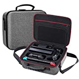 abcGoodefg Hard Carrying Case for Nintendo Switch System and Pro Controller Host Storage Large Bag, Extra Accessories Bundle, Gray