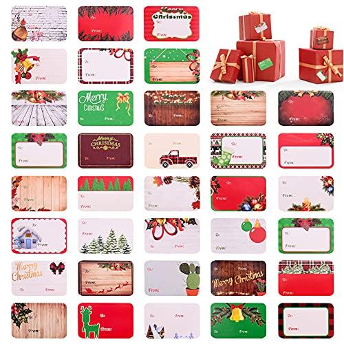 Gukasxi 216 etiquetas autoadhesivas de Navidad, etiquetas adhesivas de regalo de vacaciones, etiquetas de regalo decorativas para regalo de vacaciones, regalo de Navidad, etiquetas de felicitación