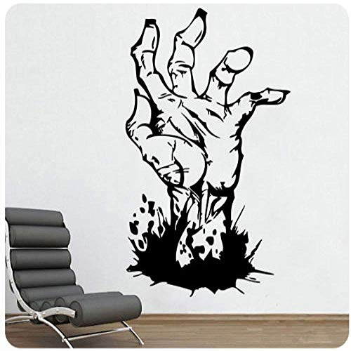 57X93Cm Zombie Walking Dead Wandtattoo Aufkleber Horror Evil Detailliertes Wandbild