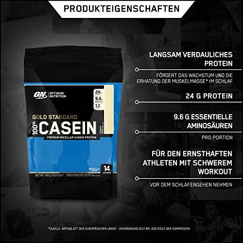 Optimum Nutrition 100% Casein Gold Standard Protein Vanilla, 1er Pack (1 x 450 g) - 2