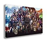 """GAME OF THRONES CAST CANVAS WALL ART (30"""" X 18"""" / 75 X 45cm)"""