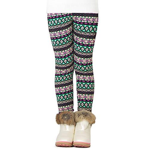 Adorel Meisje Fleece Leggings Warm Winter Patroon Dikke