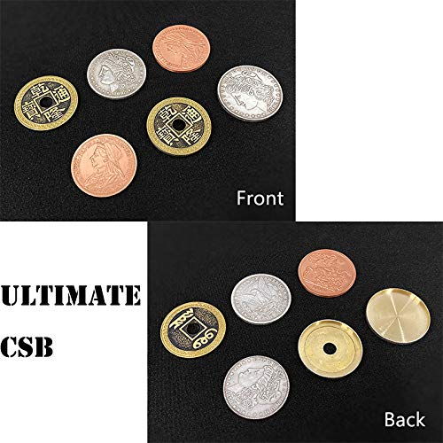 SUMAG Ultimate CSB 2.0 Magic Tricks Coin Appear Vanish Transform Magic Magician Close Up Illusions Gimmick Requisiten Mentalismus