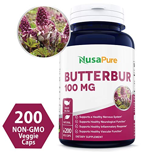 ✅ ✅ ✅ PREMIUM BUTTERBUR PILLS: NusaPure offers the superior Butterbur Powder Extract on the market. Our pills are made from Butterbur Extract and features some of the purest ingredients ensuring only the best for your body. Our 'Pyrrolizidine Alkaloi...