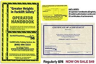 OSHA Compliant Forklift Operator Handbooks (Set of 20 English)