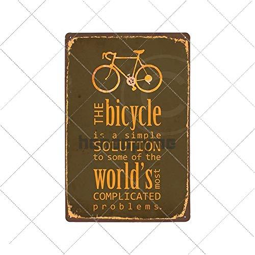 WE Carteles de Chapa de Metal para Bicicleta Retro, Cartel Vintage para Montar en Bicicleta, Bar, Pub, Club, decoración de habitación, Placa de Pared, decoración del hogar, 2033013