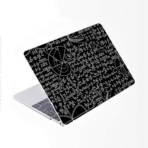 SDH Funda para MacBook Pro de 15 pulgadas 2019 2018 2017 2016 versión A1990 A1707,plástico y piel de teclado degradado compatible con Mac bookPro 15 Touch Bar & ID, Blackboard Book 2
