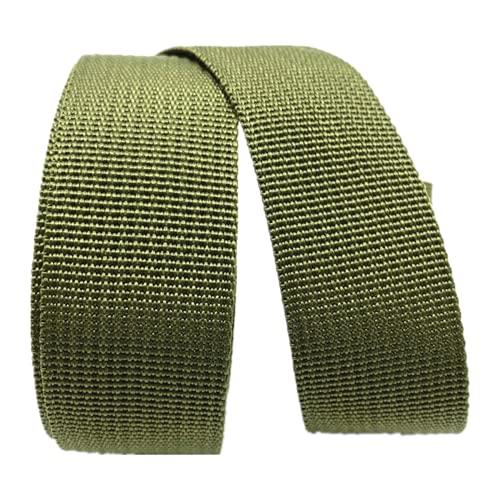 DTKJ Correa de polipropileno resistente de 10 yardas, cinta de nailon de lona, bolsa de cinturón, mochila para mascotas, bolsa de costura, accesorios de bricolaje, Verde militar, 50 mm,