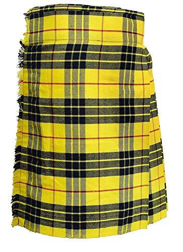 SHYNE KILTS U.K Herren Schotten Rock Gr. 96,5 cm (38 zoll), Yellow/Black