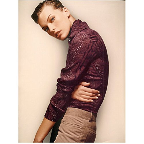 Milla Jovovich Posing Slouched Forward 8 x 10 Inch Photo