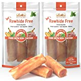 LuvChew Premium Long-Lasting Dog Chew Roll Made with Real Chicken & Wholesome Vegetables, Rawhide Free, Gluten...