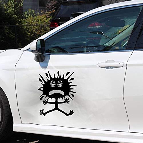 Autodomy Pegatinas Divertidas Decorativas Buns para Bollos Golpes Pack 2 Unidades para Coche o Moto (Negro, S -10 x 12 Cm)