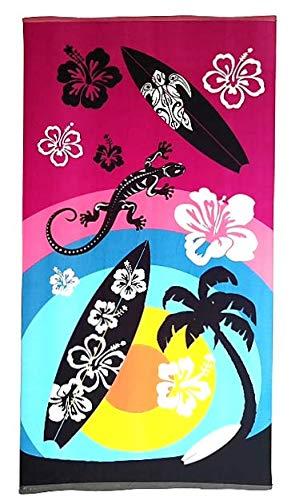 Goodforgoods Toalla de Playa y Piscina, Grande 170x90 cm, Modelos, Tela, Secado rápido, Ligera y fácil de Llevar. (Multicolores 2)