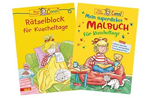 Carlsen Conni Gelbe Reihe - Set: Rätselblock für Kuscheltage + Mein superdickes Malbuch für Kuscheltage