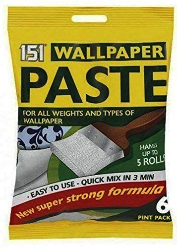 6 Pint Wall Paper Roll Wallpaper Paste Super Strong Stick Quick Adhesive All Purpose Glue For Hangs Upto 5 Rolls
