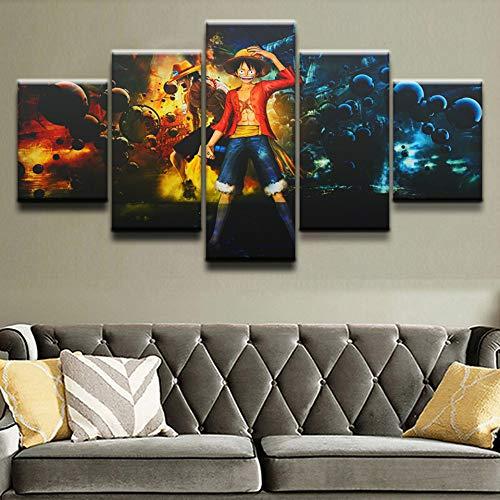 SQSHBBC Dekoration Bilder Modulare Wandkunst 5 Panels One Piece HD Wohnzimmer Gemälde Moderne Leinwand Gedruckt Cuadros Poster30x50 30x70 30x80 cm (kein Rahmen)
