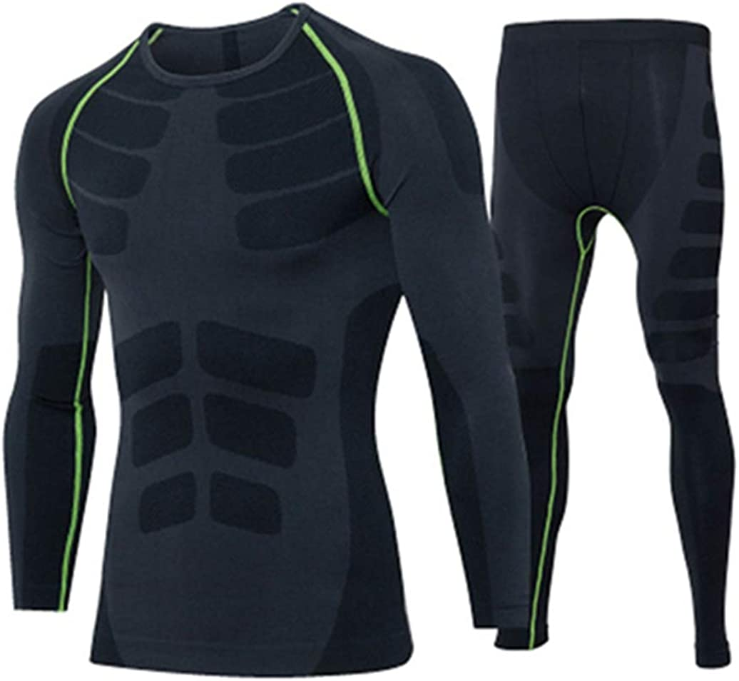 Winter Thermal Underwear Sets Men Long John Quick Dry Stretch Male Warm Compression Top