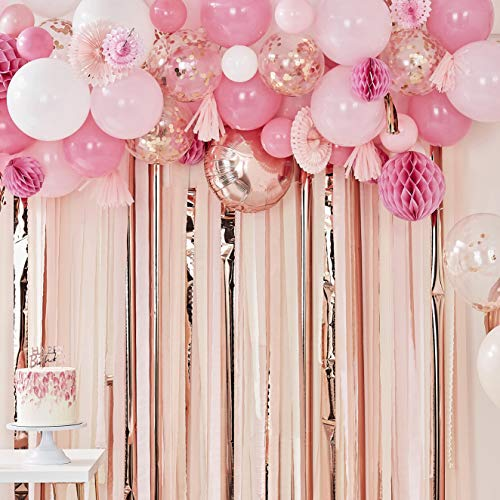 Ginger Ray Blush and Peach Balloon and Fan Garland Party Backdrop Mix