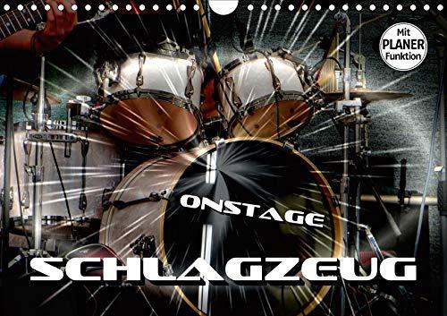 Schlagzeug onstage (Wandkalender 2020 DIN A4 quer): Eindrucksvolle Konzertaufnahmen und Closeups von verschiedenen Schlagzeugen (Geburtstagskalender, 14 Seiten ) (CALVENDO Kunst)