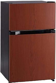 アイリスプラザ ノンフロン 冷蔵庫 87L ダークウッド PRC-B092D-M