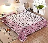 Kuscheldecke Flauschige Wohndecke Decke Warm und Weich, Nordisch flanelle Fleecedecke, Falten Sofadecke Tagesdecken, Viele Stile Farbe (200 x 230 cm,Rosa Leopard)