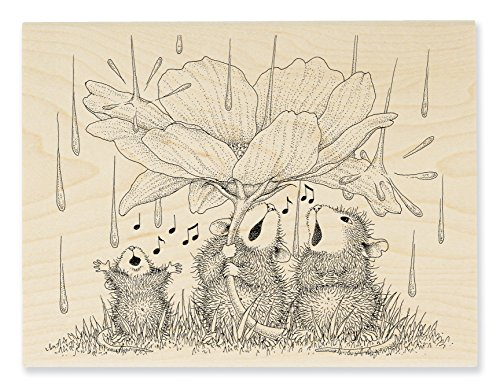 Stampendous HMR116 House Mouse Wood Stamp, Peony Song