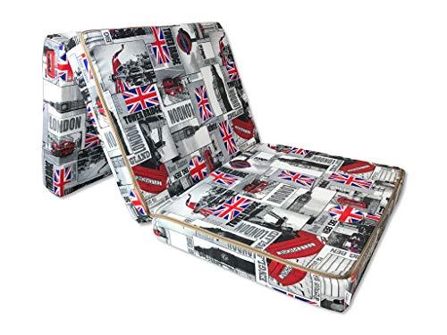 Natalia Spzoo Cama de invitados, colchón plegable 195 x 65 x 10 cm (London)