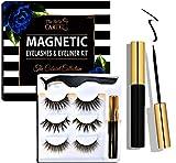 The Belle Cartel Magnetic Eyelashes with Eyeliner Kit, Magnetic Eyelashes Long, Magnetic Lashes and Magnetic Eyeliner Kit, Dramatic Lashes Magnet Lashes, Party Eyelashes, No Glue (Cabaret - 3 Pairs)