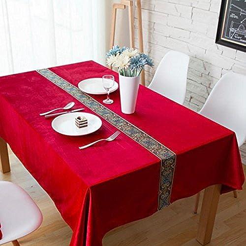 Nappe Tissu Tissu Rectangulaire Accueil Pique-Nique Antipoussière Anti-Fouling Soft Premium Table, 5