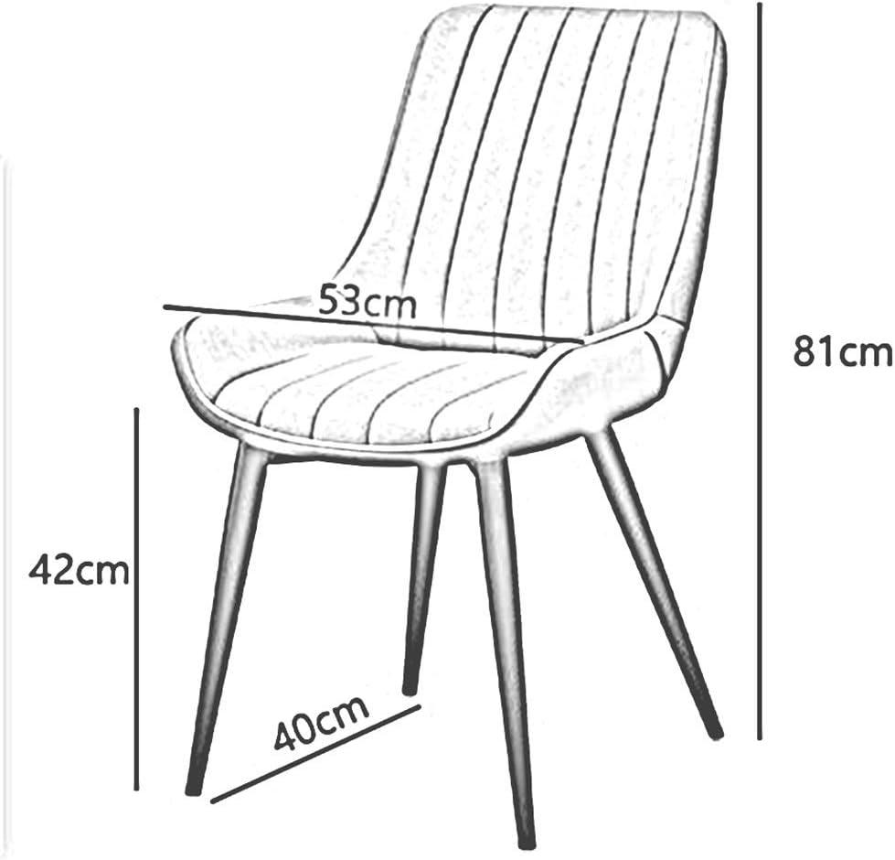 WYYY chaise de Bureau Chaise De Salle À Manger, Moderne Chaise De Bureau Armature De Fer Restaurant Café Salon Un Hôtel Durable Fort (Color : Brown) Brown