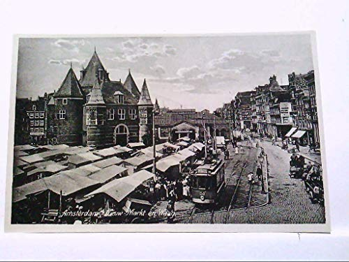 AK Amsterdam/ Niederlande, Nieuw Markt en Waag, Marktplatz.
