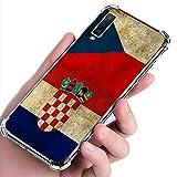 Arkrdiif Funda para Samsung Galaxy A7 2018, transparente, Airbag, antigolpes, suave, de silicona y TPU resistente a los arañazos, funda Premium Eco Case transparente (Croatia)