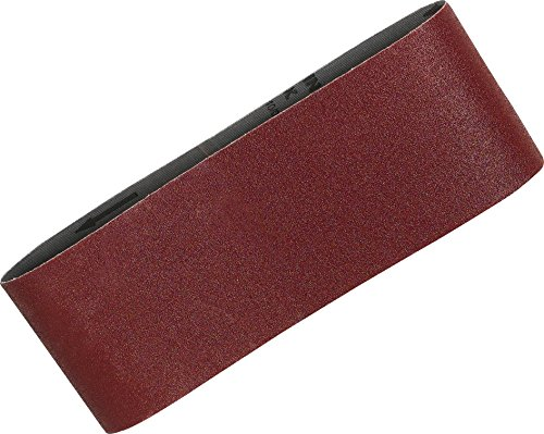 Makita P-36924 Schleifband 100 x 610 MM Körnung K120 (5 Riemen) Rot