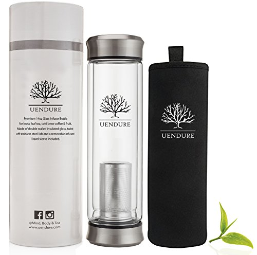 Top 10 Best Glass Tea or Fruit Infuser Travel Bottle Reviews 2019-2020 cover image