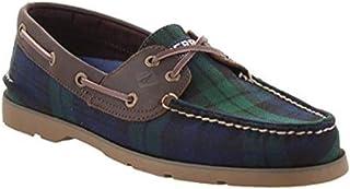 Sperry Men's, Leeward Boat Shoe Black Plaid 10 M