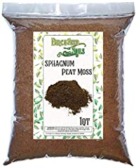 100% Organic Natural Sphagnum Peat Moss by BirchSeed Soils - Small 1QT size bag perfect for potting or replanting 1-2 small plants. Packaged in a 6 inch by 9 inch resealable bag. Exceptional soil structure and quality - promotes aeration, prevents co...