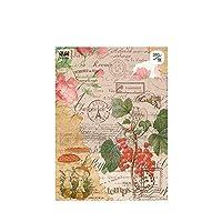 メモ帳 かわいい背景紙 植物メモ用紙 手帳カレンダーアルバム | 1種につき (古い記録biewujiuzhi)