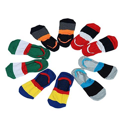 5 paires Homme Chaussette Bateau Invisible coton Bas Sport Sock Multicolore